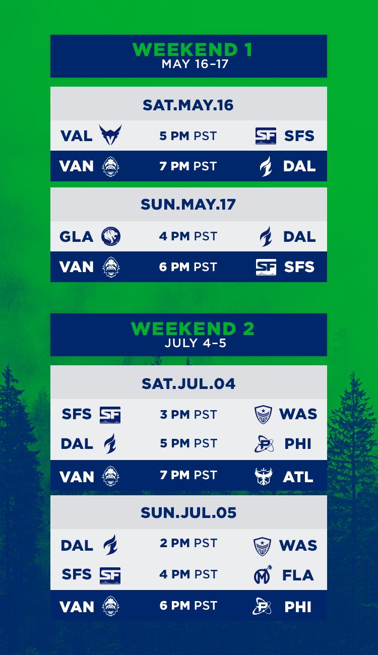 Titans Schedule 2020.Vancouver Titans Homestand 2020 On Sale Vancouver Titans